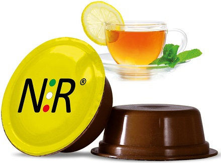 A MODO MIO Capsule Compatibili Scatola Tè al Limone 50 pz NeroRistretto