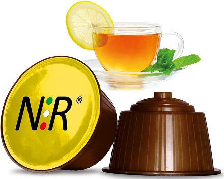 DOLCE GUSTO Capsule Compatibili Scatola Tè al Limone 32 pz NeroRistretto