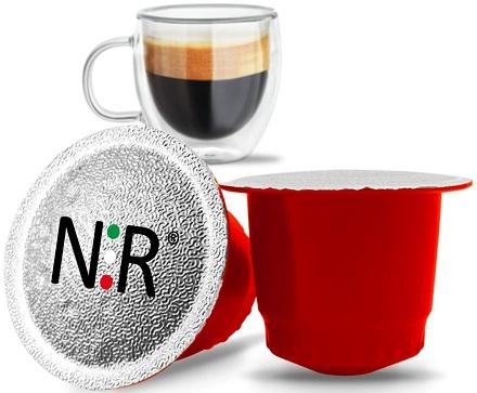 NESPRESSO Capsule Compatibili Scatola Caffè Fortissimo 100 pz NeroRistretto