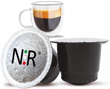 NESPRESSO Capsule Compatibili Scatola Caffè Ristretto 100 pz NeroRistretto