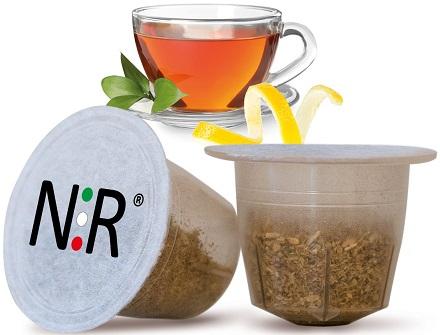 NESPRESSO Capsule Compatibili Scatola Tè al Limone 50 pz NeroRistretto