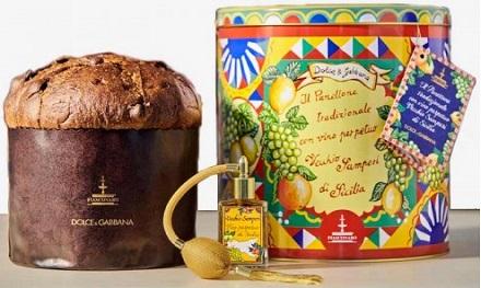Panettone al Vino Vecchio Samperi Dolce e Gabbana Fiasconaro