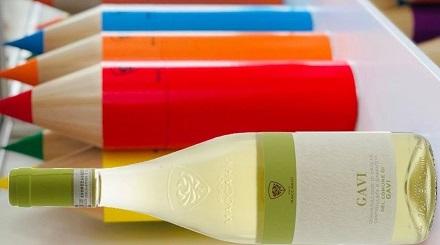 Gavi del Comune di Gavi DOCG Pico Maccario - con astuccio matita colorato